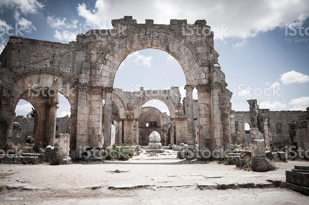 Pillar of Saint Simeon the Stylite - Syria stock photo