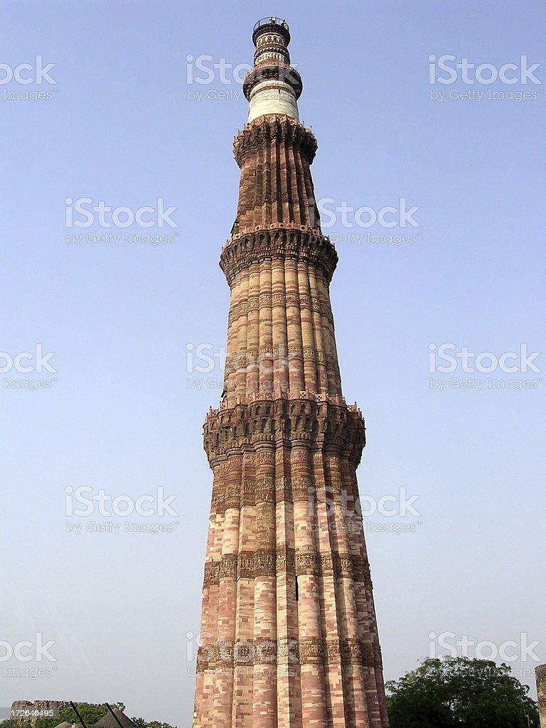 Pillar - Qutab Minar stock photo