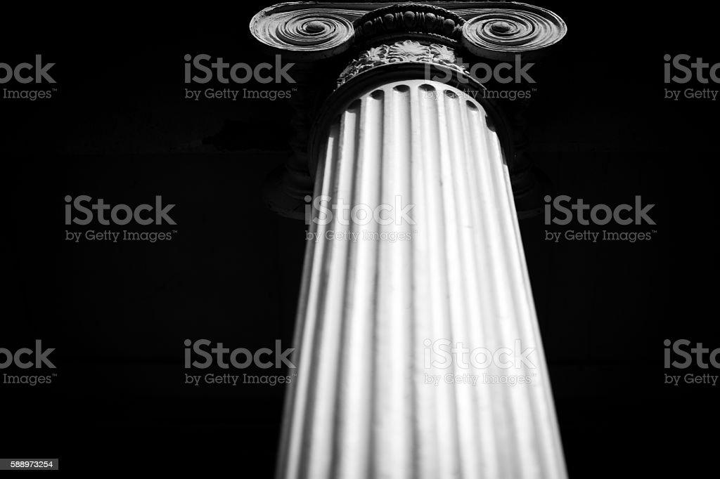 Pillar with Greek Detail stock photo