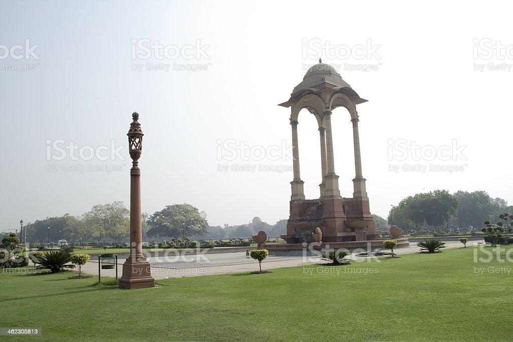 Pillared Lamp Post and Structure stock photo