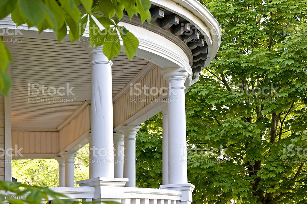 Pillared Porch royalty-free stock photo