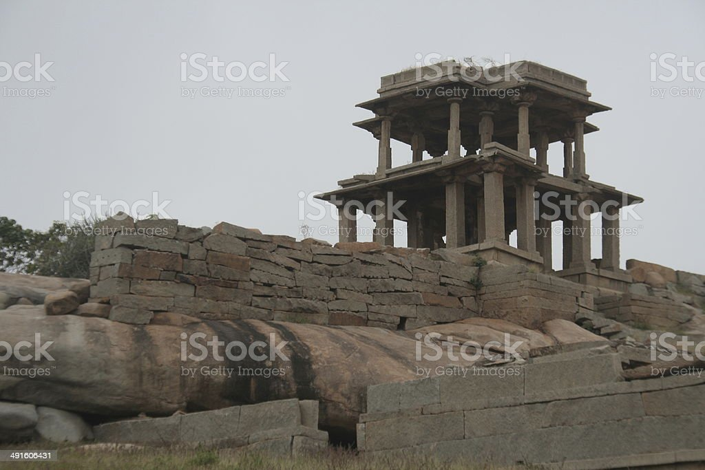 Pillared Viewing Gallery stock photo