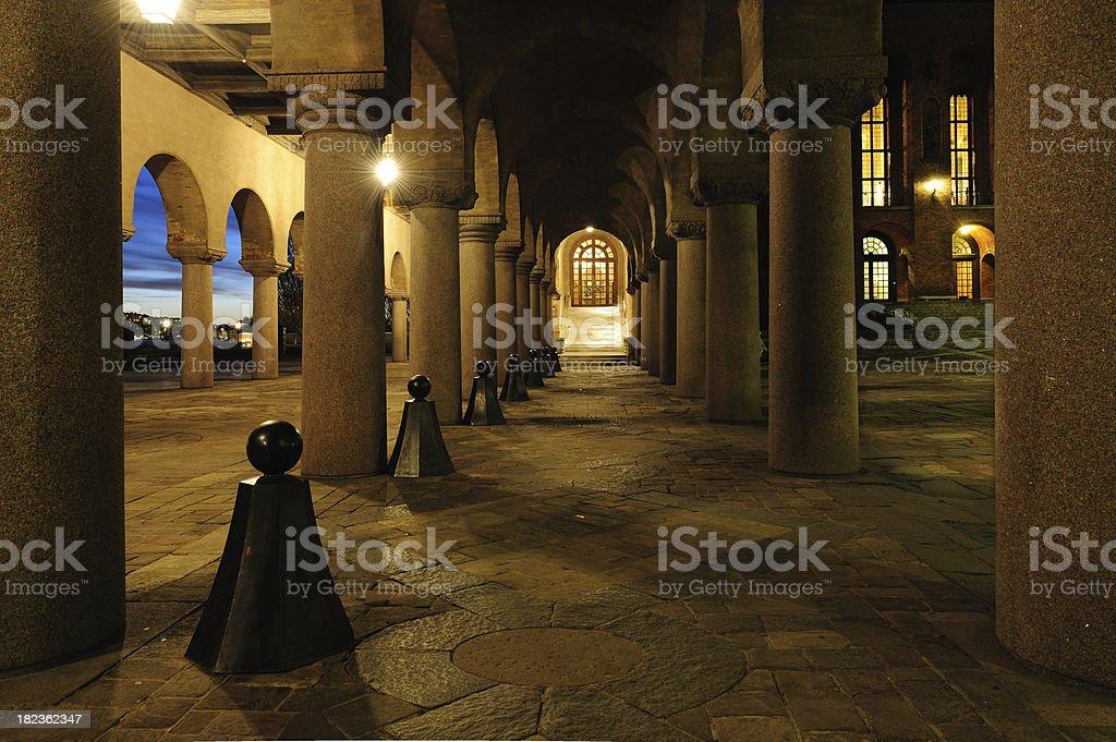 Pillars against sunset royalty-free stock photo