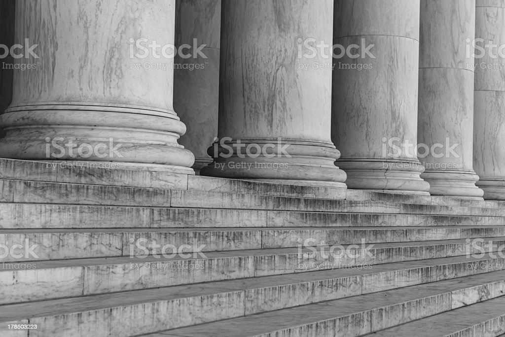 Pillars and Stairs royalty-free stock photo