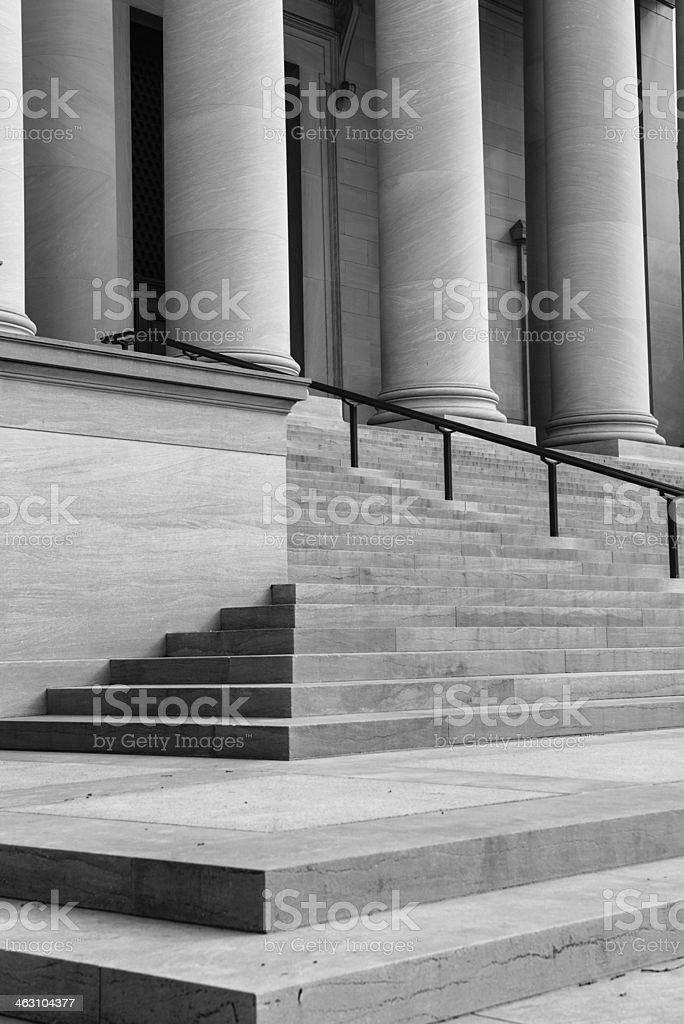 Pillars and Step royalty-free stock photo