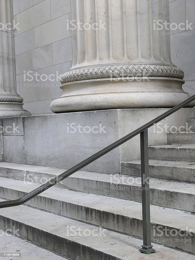 Pillars and Steps 1 royalty-free stock photo