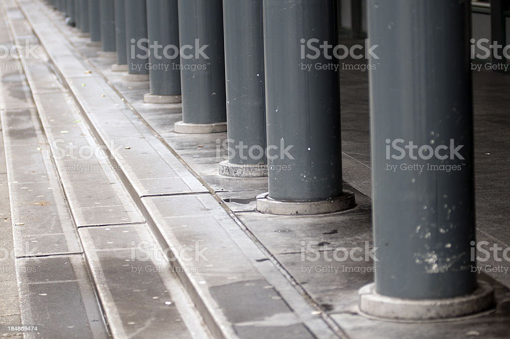 Pillars and steps at Amsterdam, Netherlands royalty-free stock photo