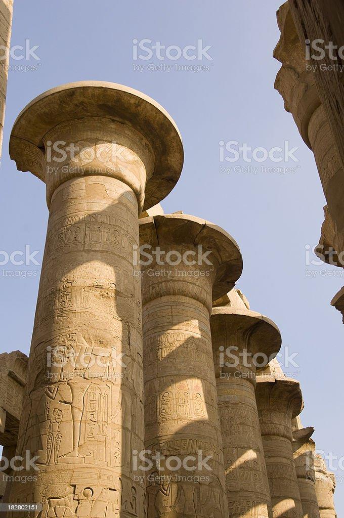 Pillars at Karnak Temple royalty-free stock photo