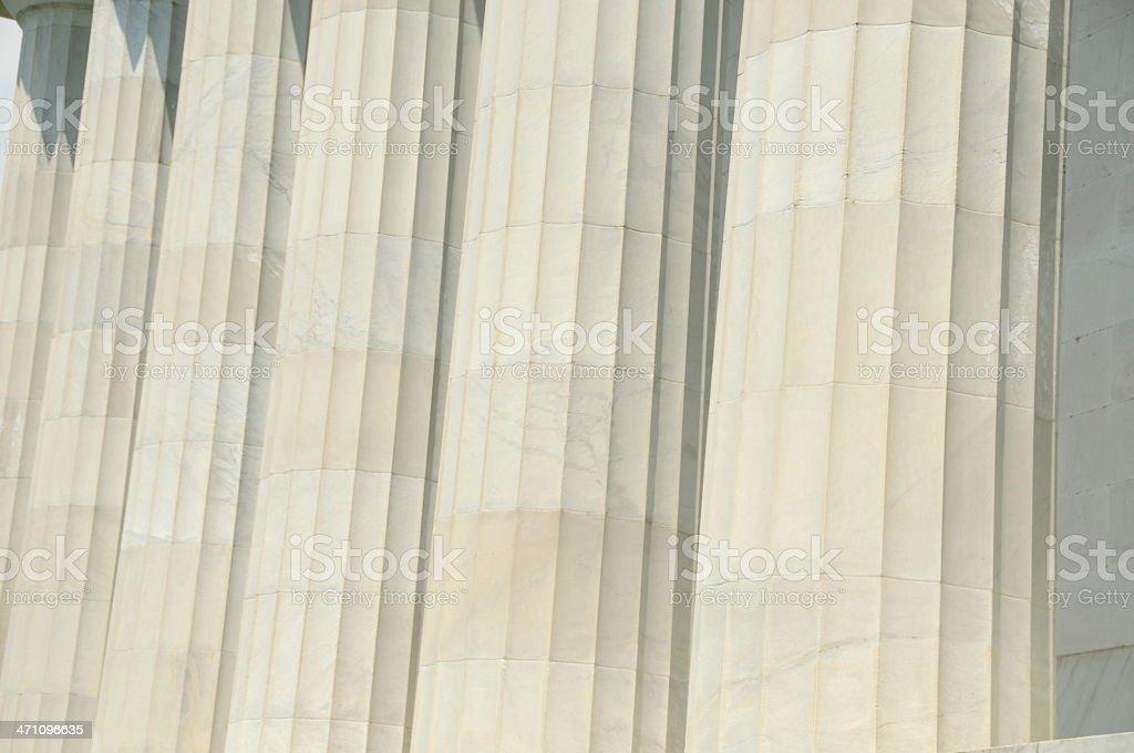 Pillars closeup royalty-free stock photo
