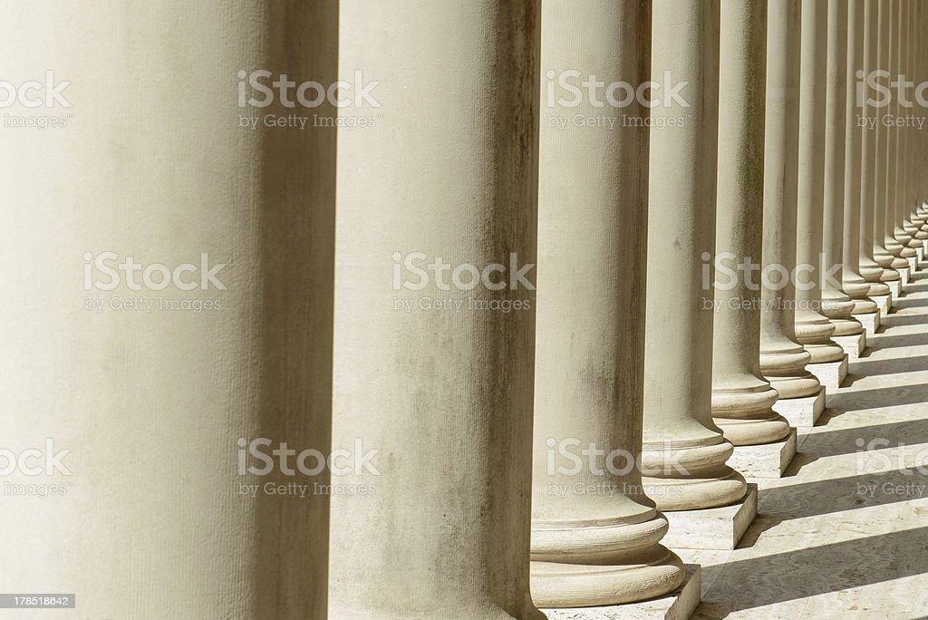 Pillars in a Row royalty-free stock photo