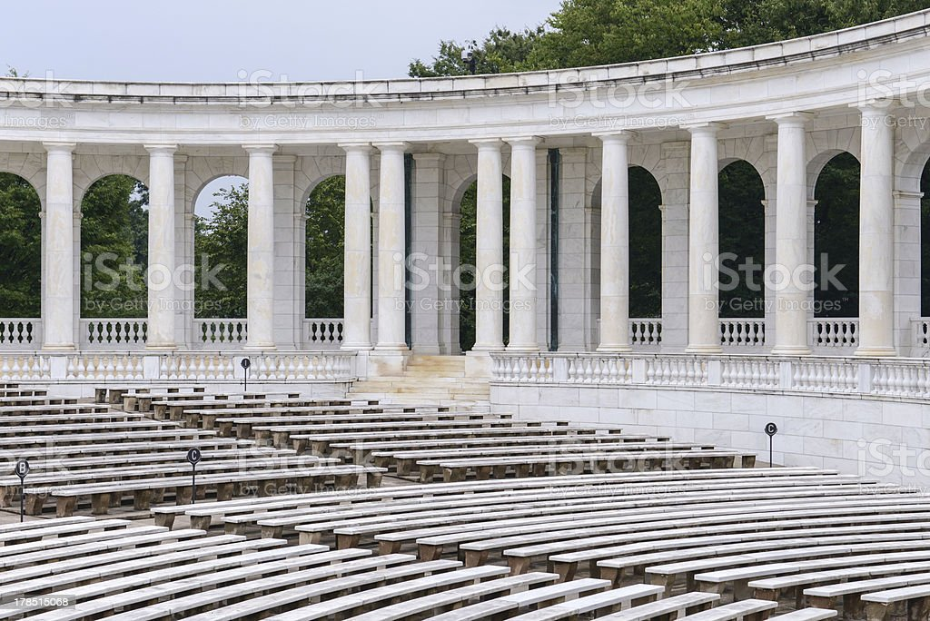 Pillars in an amphitheater royalty-free stock photo