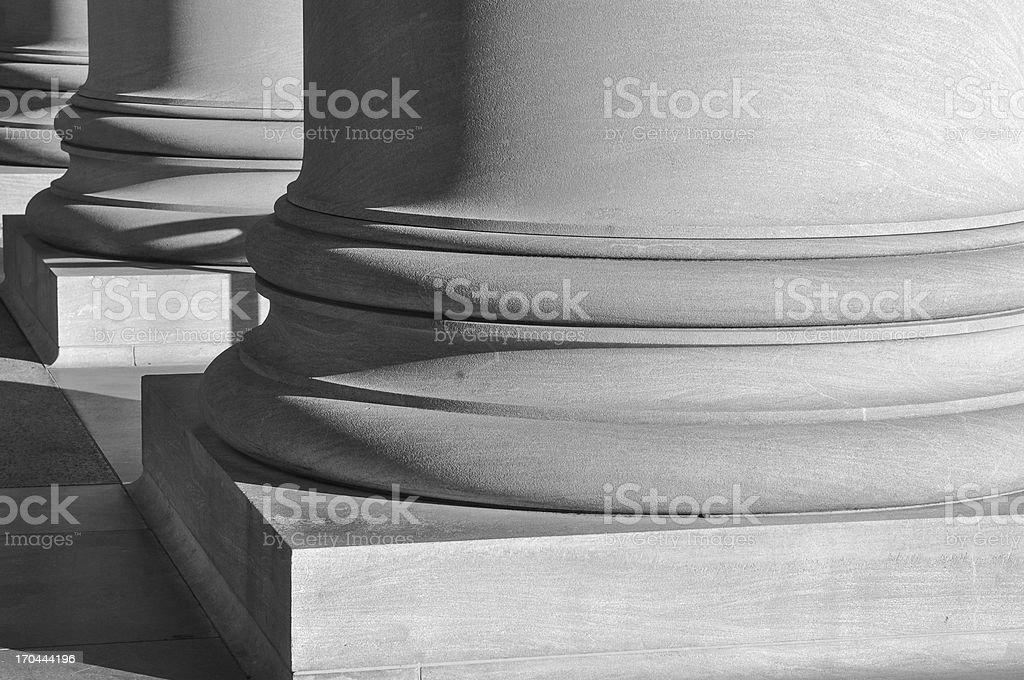 Pillars made of Marble Close Up royalty-free stock photo