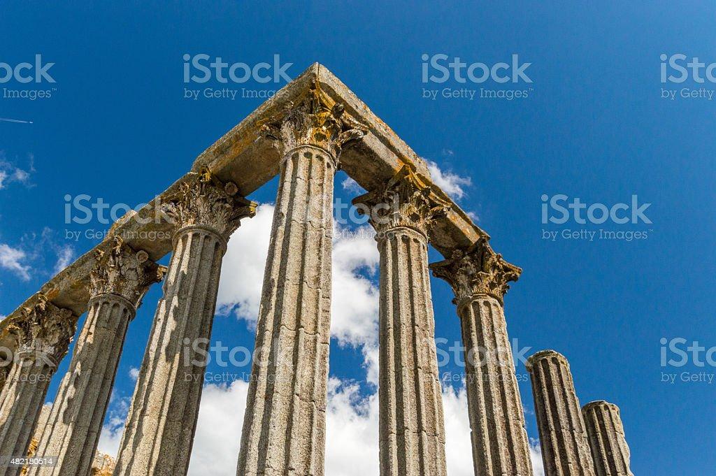Pillars of a Roman temple stock photo