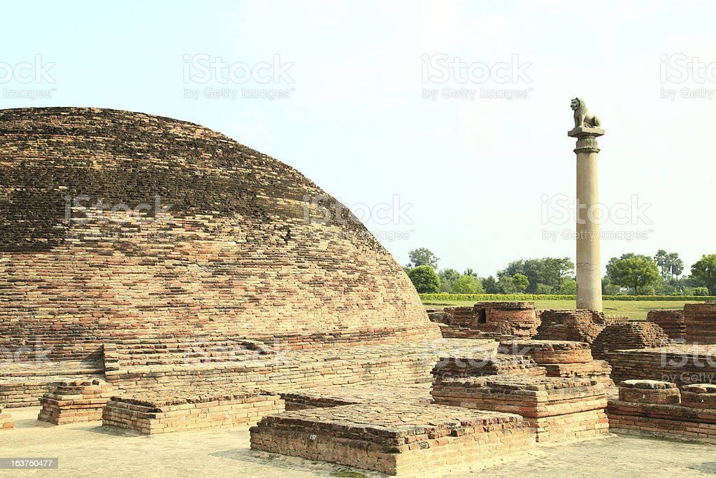 pillars of Ashoka royalty-free stock photo