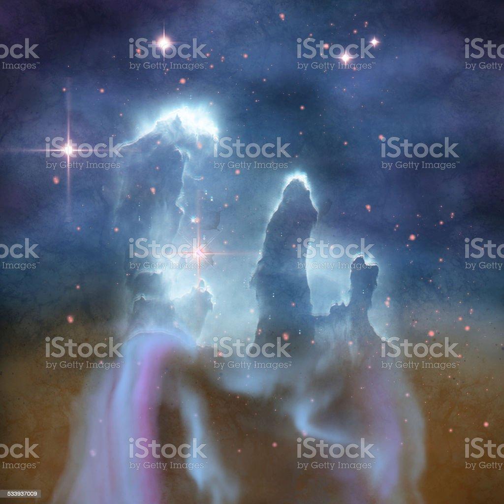 Pillars of Creation stock photo