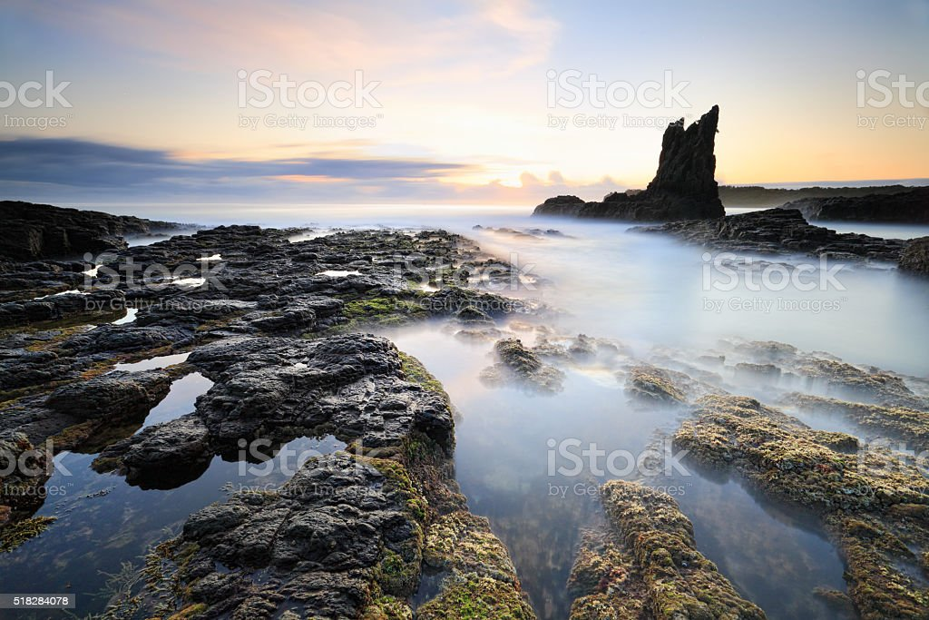Pillars of Earth Cathedral Rock, Kiama stock photo