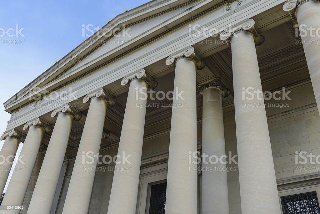Pillars of Education stock photo