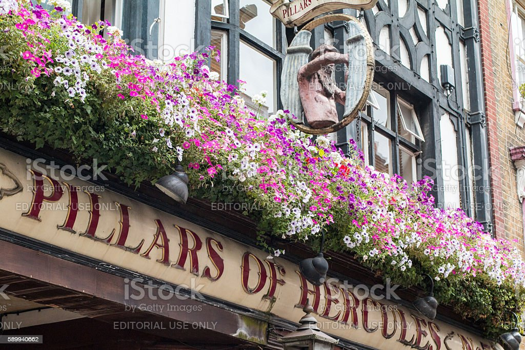 Pillars of Hercules in Soho, London stock photo