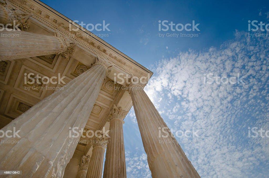 Pillars of Justice stock photo
