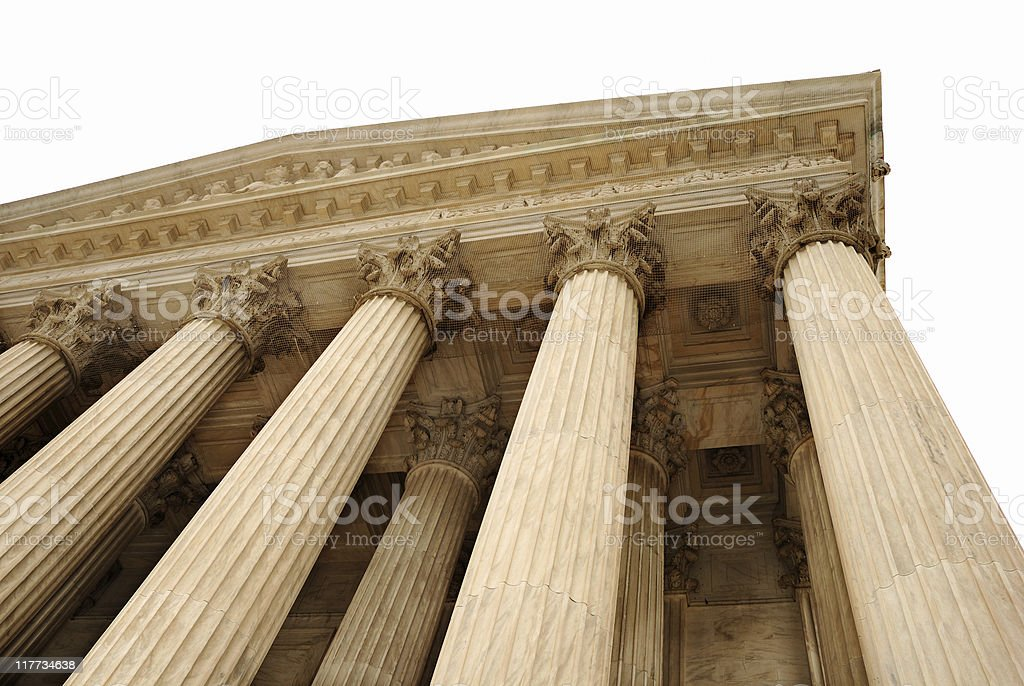 Pillars of Law royalty-free stock photo