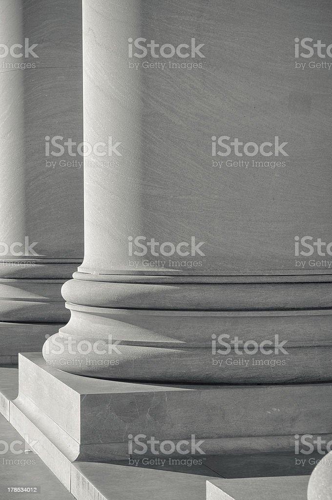Pillars of Law royalty-free stock photo