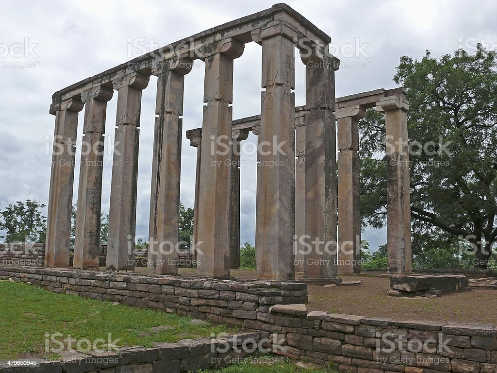 Pillars of Temple Seventeen, 17 stock photo