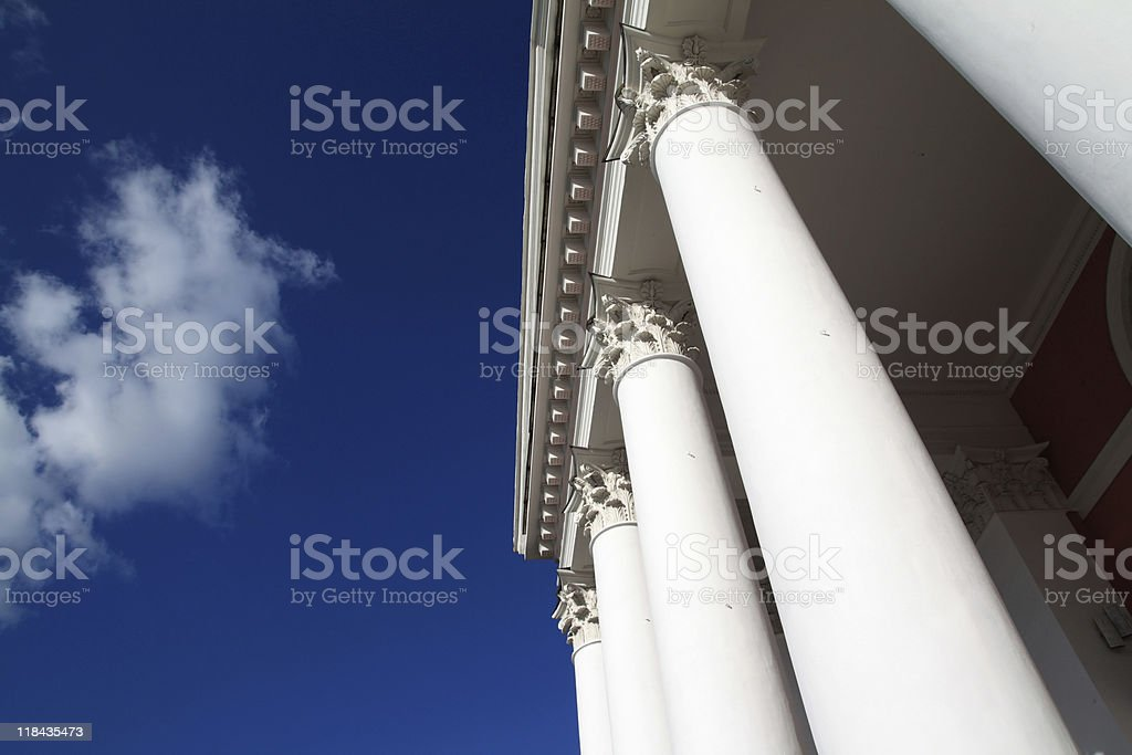 pillars of the ancient building stock photo