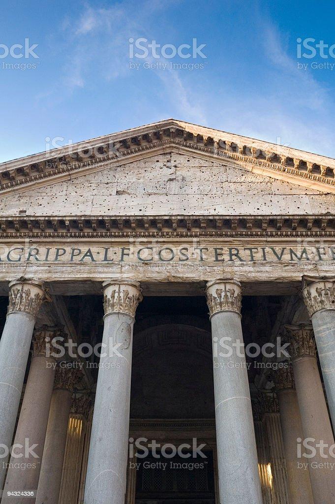Pillars of the Pantheon, Rome stock photo