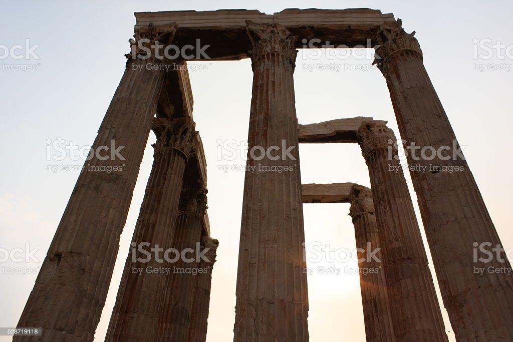 Pillars of the Temple of Zeus stock photo