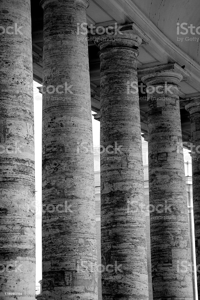 Pillars of the Vatican in Rome royalty-free stock photo