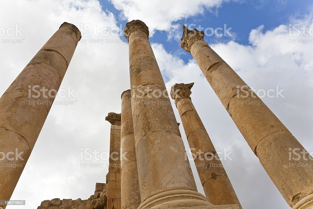 pillars temple of artemis stock photo
