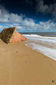 Pillbox Lying on the Beach at Covehithe