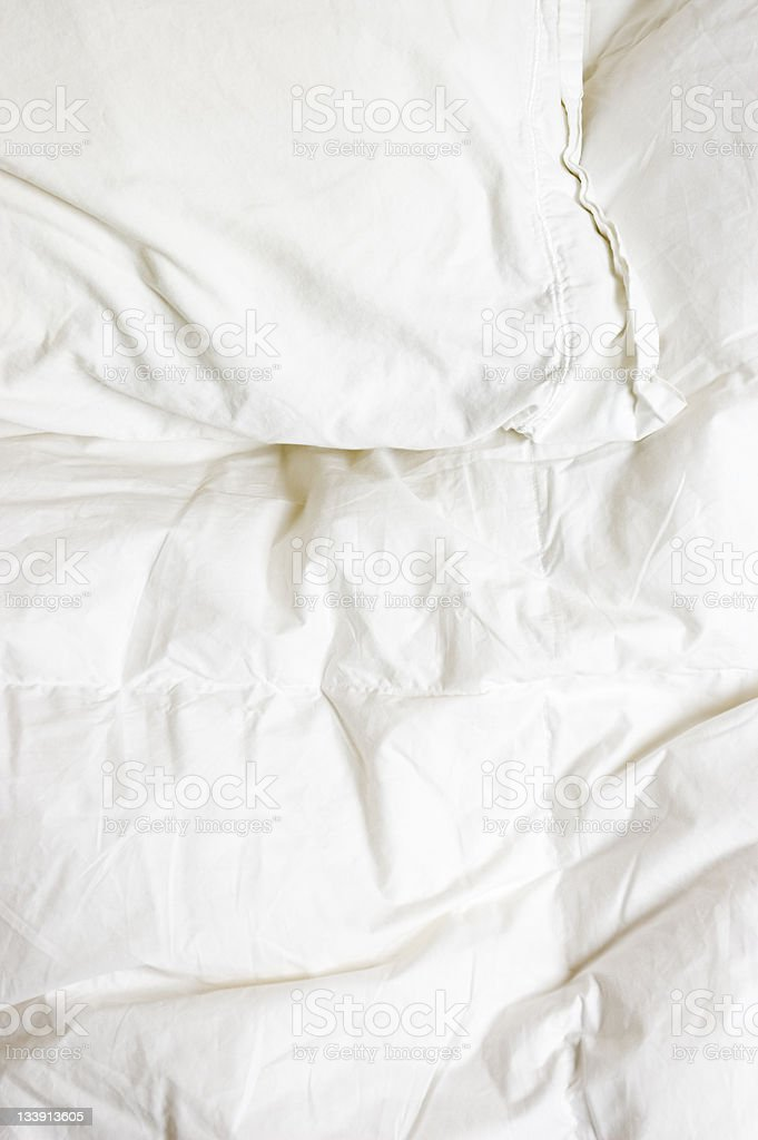Pillow and Comforter stock photo