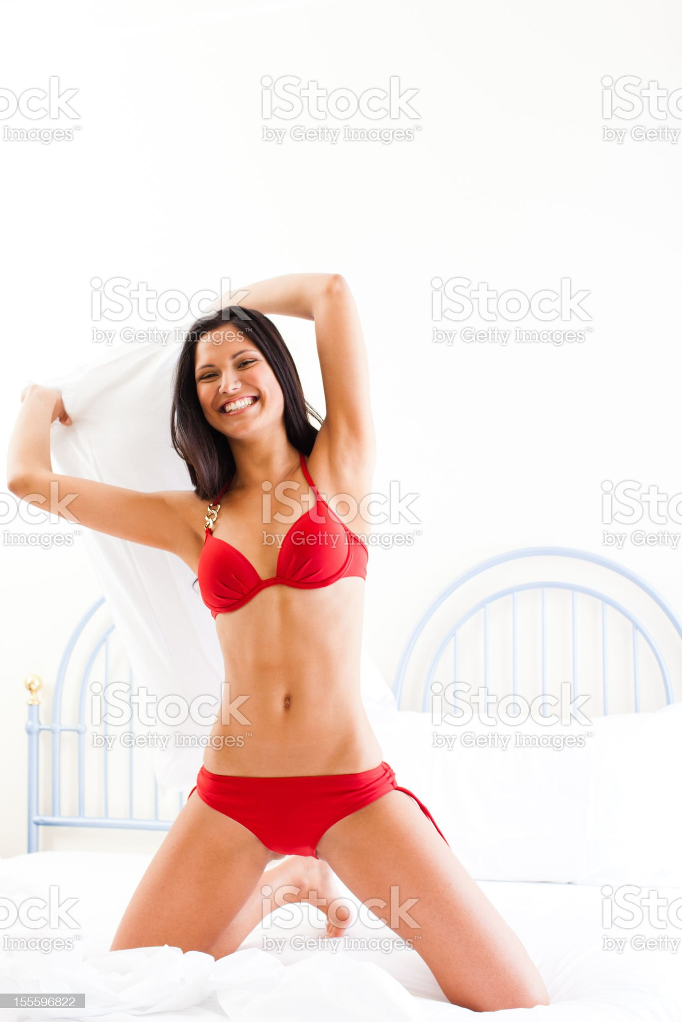 Pillow fight royalty-free stock photo