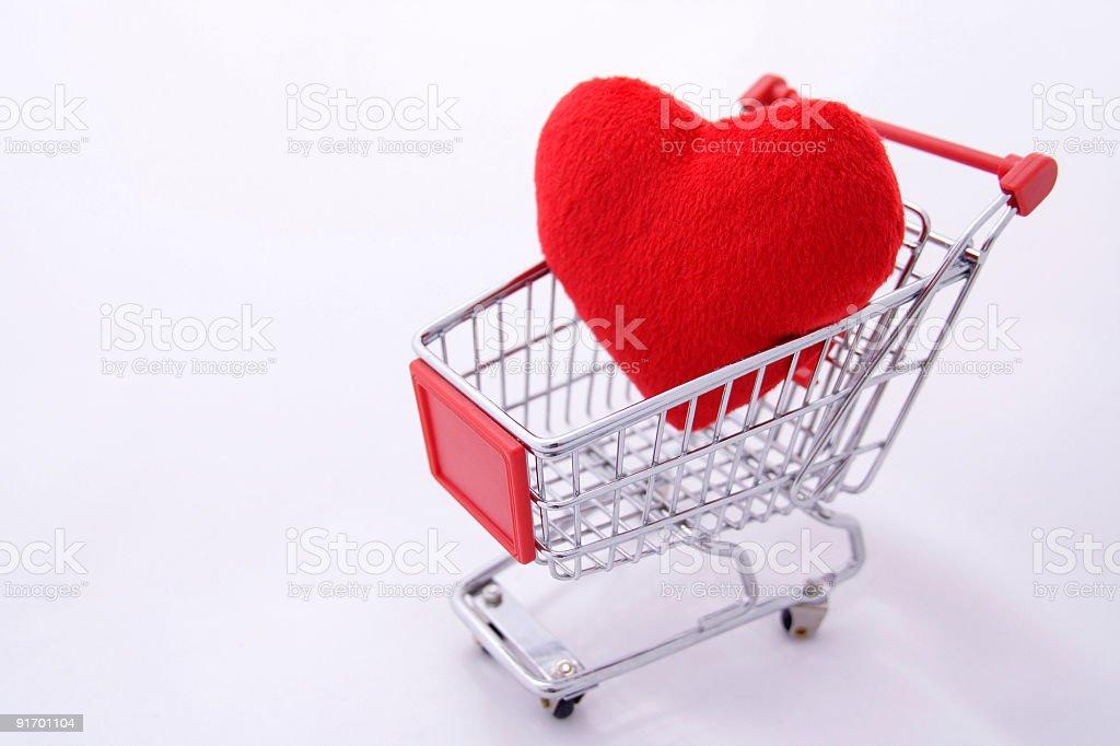 Pillow Heart royalty-free stock photo