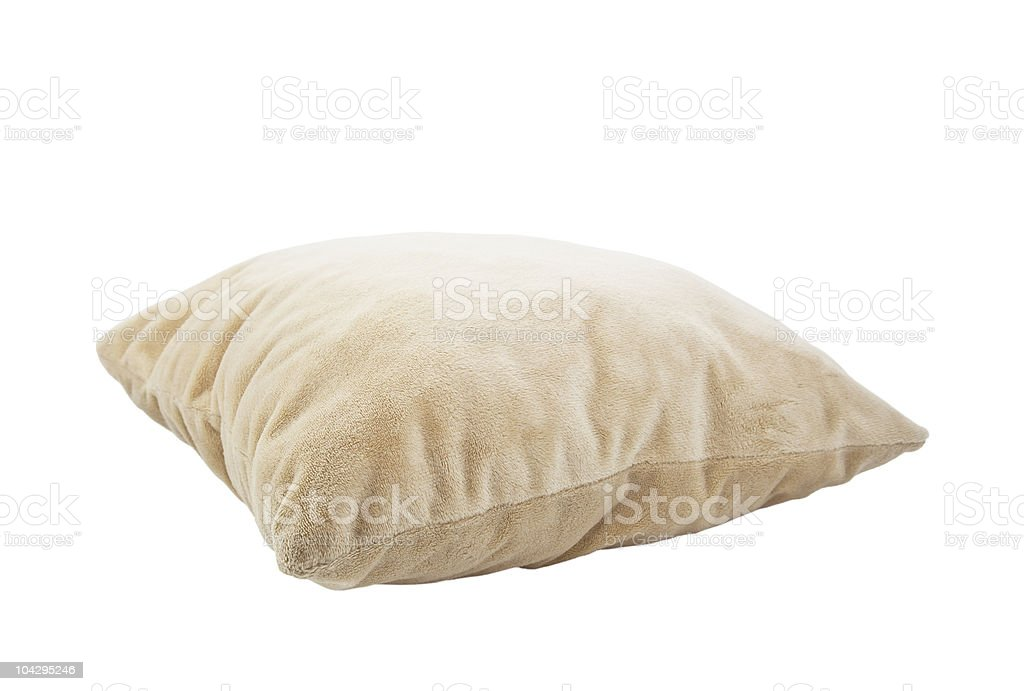 Pillow isolated on white with clipping path royalty-free stock photo