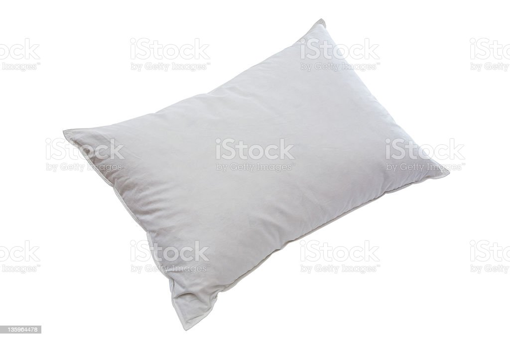 pillow isolated with path royalty-free stock photo