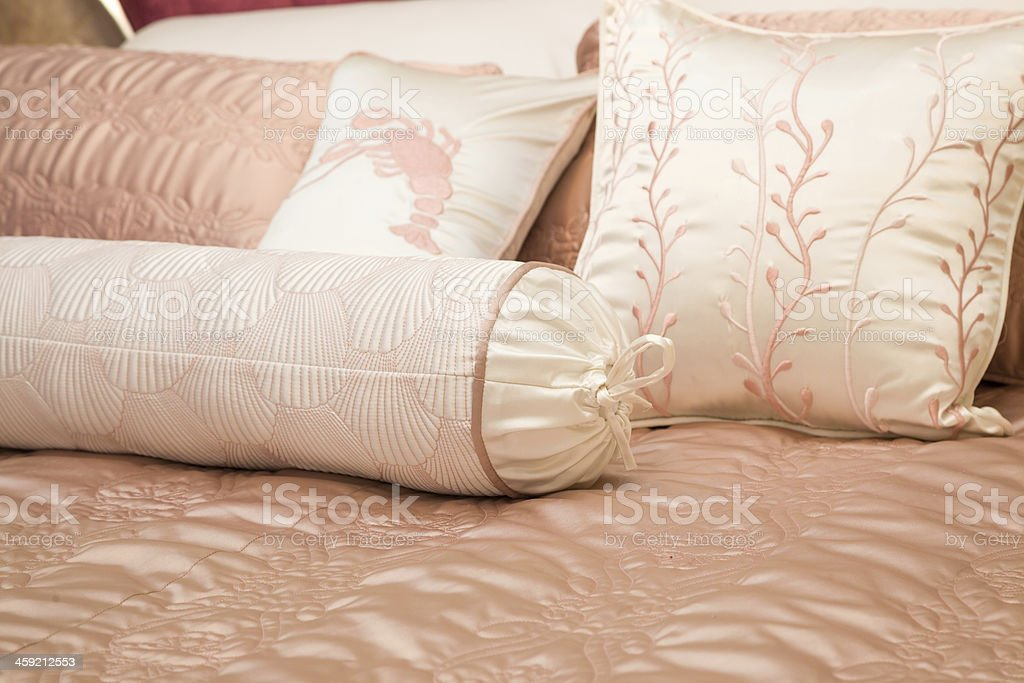 pillow on bed royalty-free stock photo