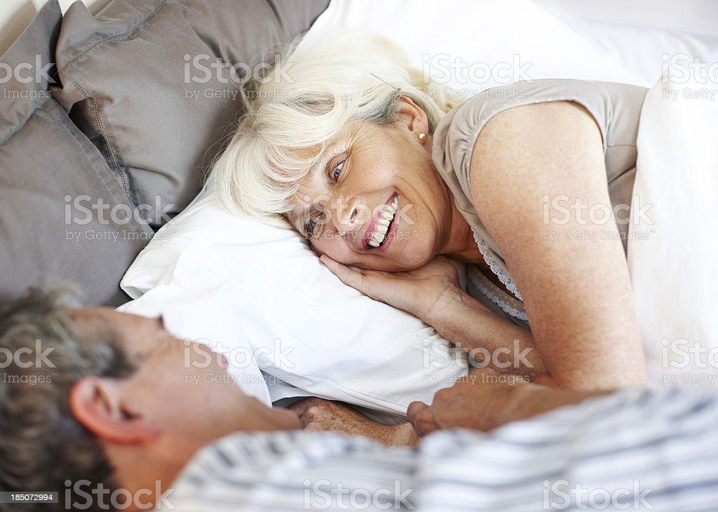 Pillow talk royalty-free stock photo