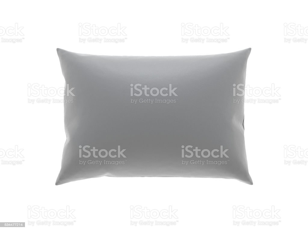 pillow top view isolated on white background stock photo