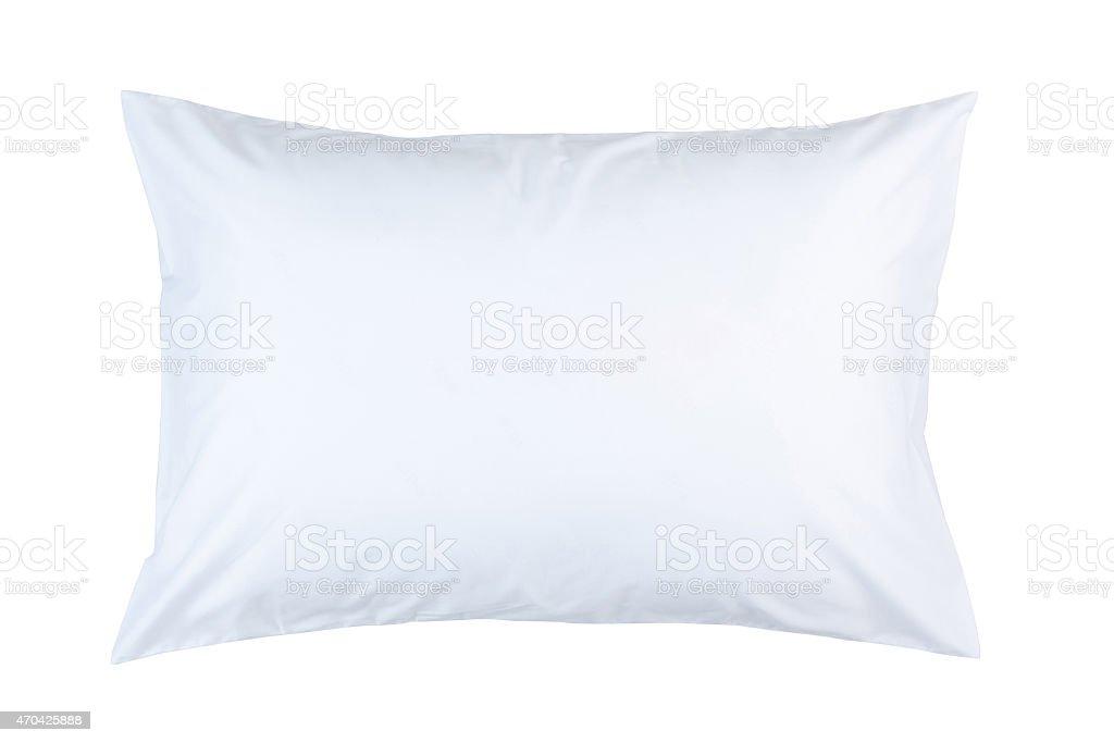 pillow with white pillow case stock photo