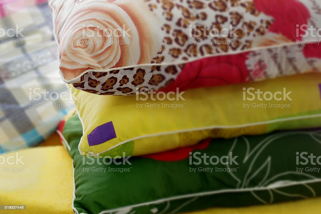 Pillows And Pillowcases stock photo