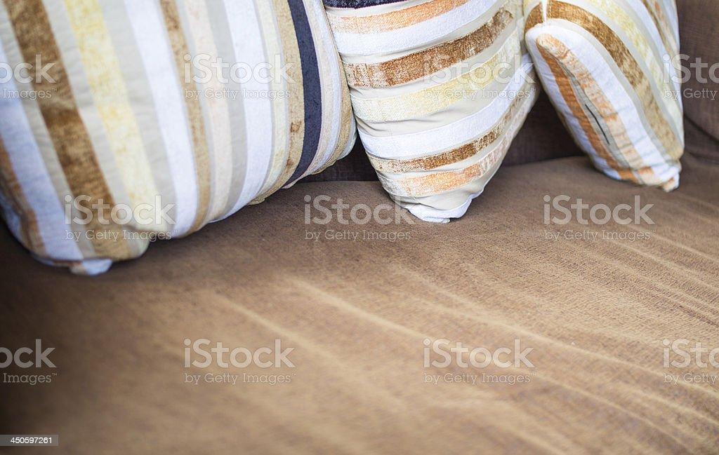 Pillows and sofa wool interior royalty-free stock photo