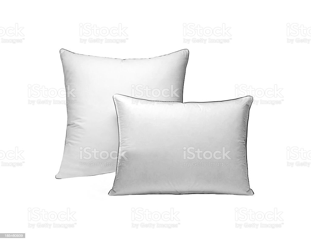 pillows isolated on white royalty-free stock photo