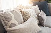 Pillows on sofa Room interior Home Decoration
