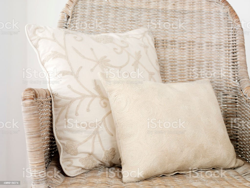 pillows stock photo