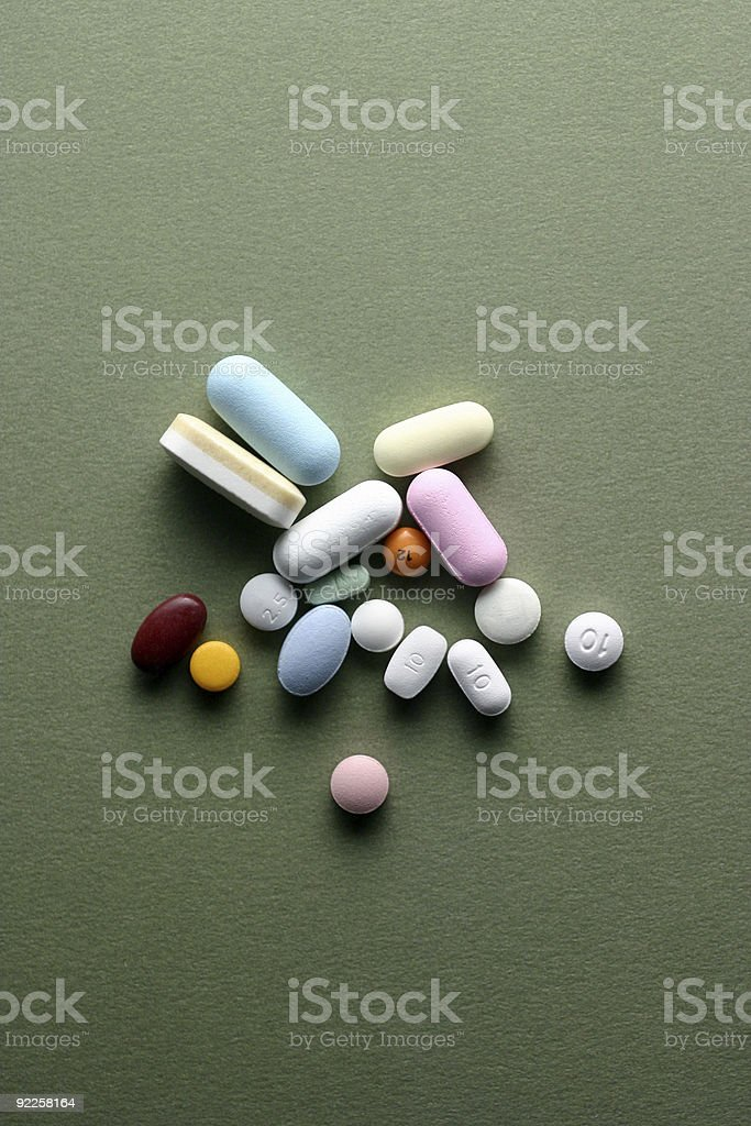 Pills 10 stock photo