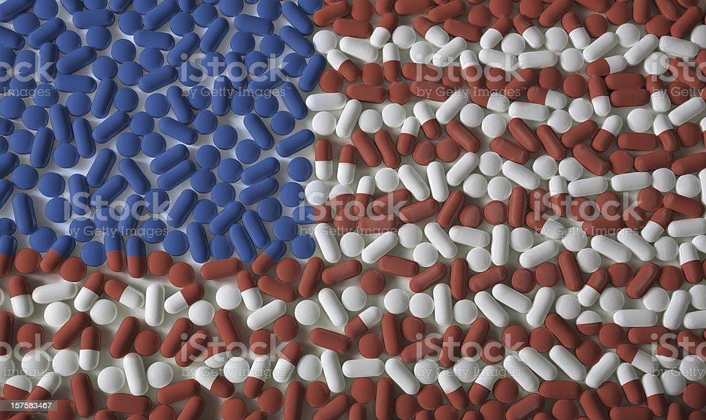 Pills: American Flag stock photo