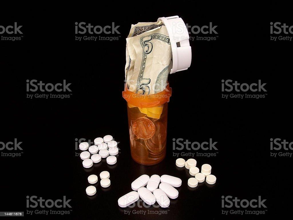 Pills and Bills royalty-free stock photo
