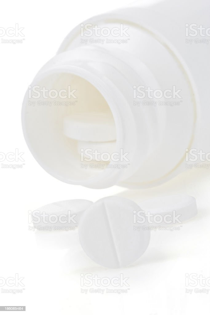 pills and bottle on white royalty-free stock photo